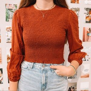 Urban outfitters red blouse